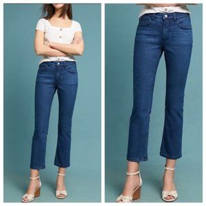 Pilcro Anthropologie High Rise Bootcut Crop Jeans